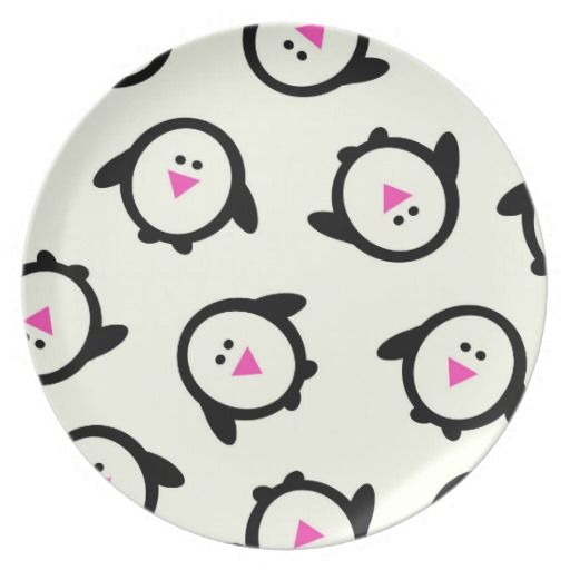 Modern Penguins Plates