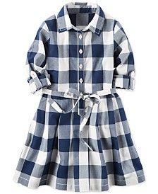 Картера Гингем Shirtdress, Маленькие девочки (2-6X)