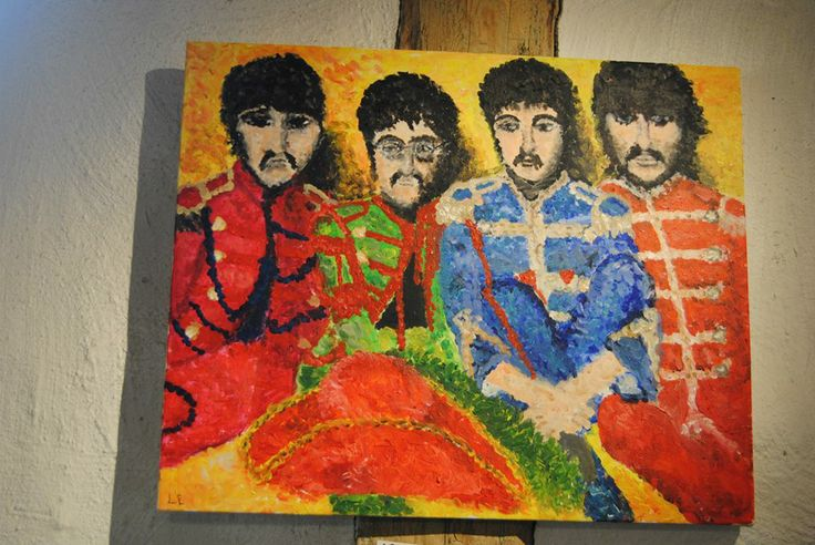 """Sgt. Pepper's Lonely Hearts Club Band"" by Linnea Englander, 2010, acrylic on canvas"