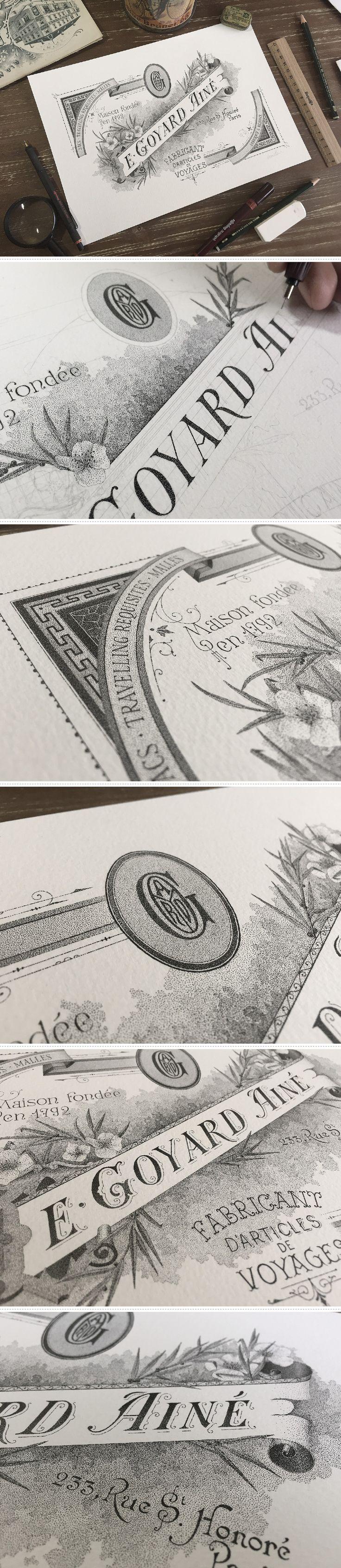 E. Goyard Ainé - Hand lettering & #illustration