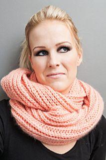Brioche infinity scarf - free download knitting pattern