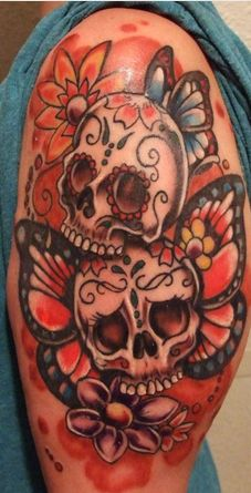 Sugar Skulls~with bird wings instead