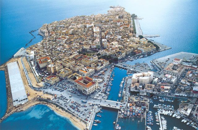 Suggestiva veduta aerea di ortigia centro storico di for Hotel siracusa centro storico