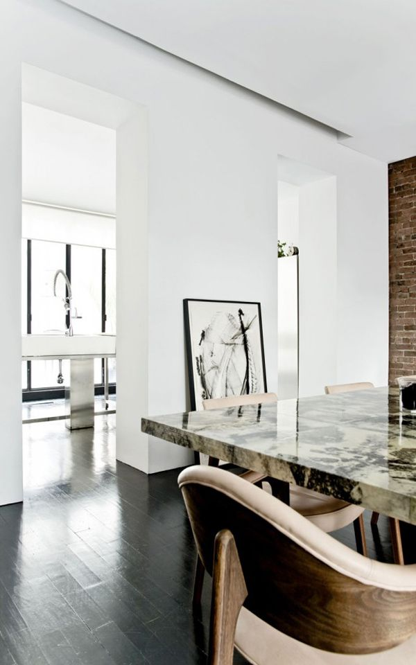 love the ceiling wall intersect detail A STUNNING HOME IN A CONVERTED JEWISH SCHOOL IN NYC | THE STYLE FILES