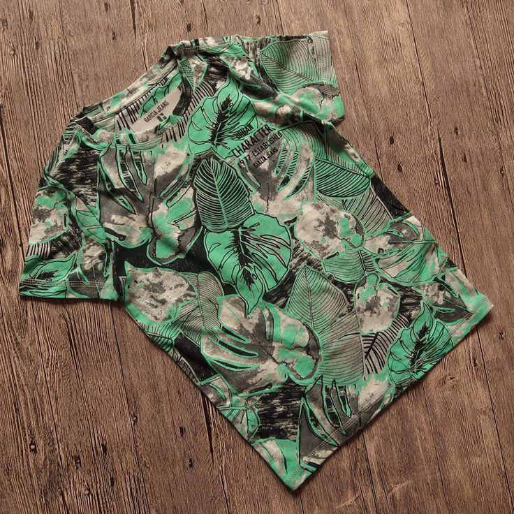 Экспорт торговли оригинальный одного большого мальчиков-подростков летние модели хлопка с коротким рукавом футболки хлопок серый камуфляж зеленый футболку - Taobao