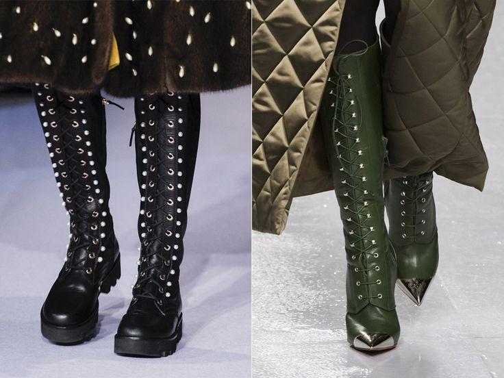 Обувь со шнуровкой осень-зима 2017-2018