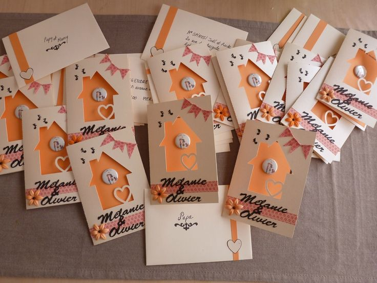 carton invitation crémaillère | Nos invitations de pacs-crémaillère - MeLfAB59 créations