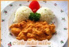 Curry-s csirke indiai módon