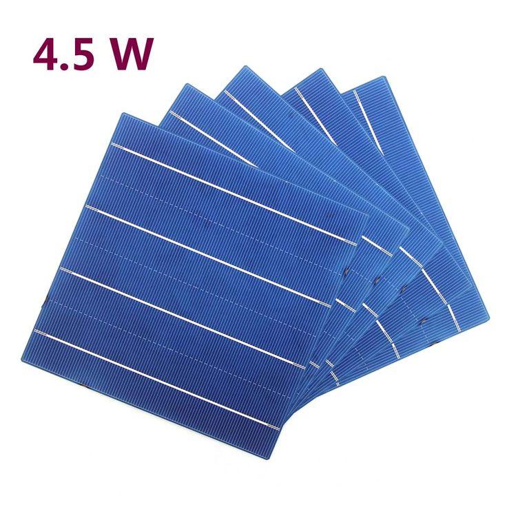 10 шт. 45 Вт 156 мм фотоэлектрических поликристаллического кремния солнечных батарей 6x6 Класс для DIY Панели солнечные купить на AliExpress