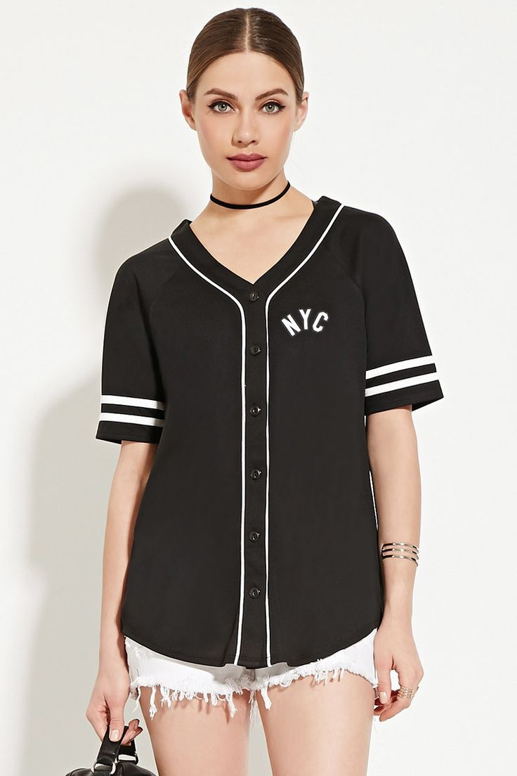 NYC 98 Baseball Jersey | Forever 21 - 2000169203