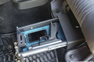 Mounted under the driver's seat, Bestop's pick-resistant lock box is big enough to secure some of your most important valuables.