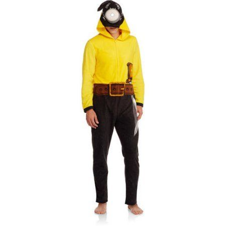 Minions Men's Onesie Pirate Union Suit, Size: Medium, Yellow