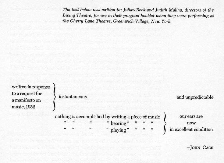 John Cage's theatre pieces - Cerca con Google