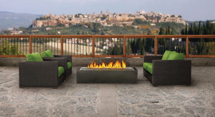 Linear Patioflame® A ribbon of fire  A truly unique outdoor fire pit with a slim, sleek modern design.