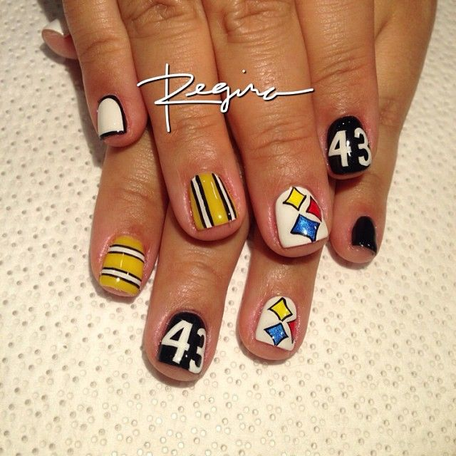 68 best steelers nails images on pinterest fashion black and steelers by nailsbyregina nail nails nailart prinsesfo Choice Image