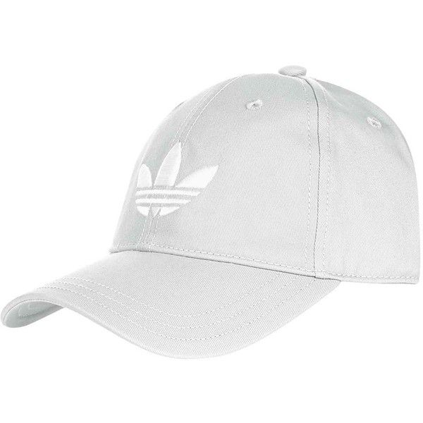 Trefoil Cap by Adidas Originals (30 AUD) ❤ liked on Polyvore featuring accessories, hats, grey cap, topshop hats, cap hats, gray hat and polyester hat