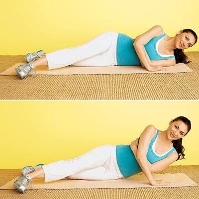 Stop Arm Jiggle With This Workout! Start with this Sideways Floor Push move. #fitness   Health.com