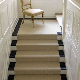 Sisal Carpet Installed On Stairs Like Carpet. The Best Way To Achieve This  Is Find