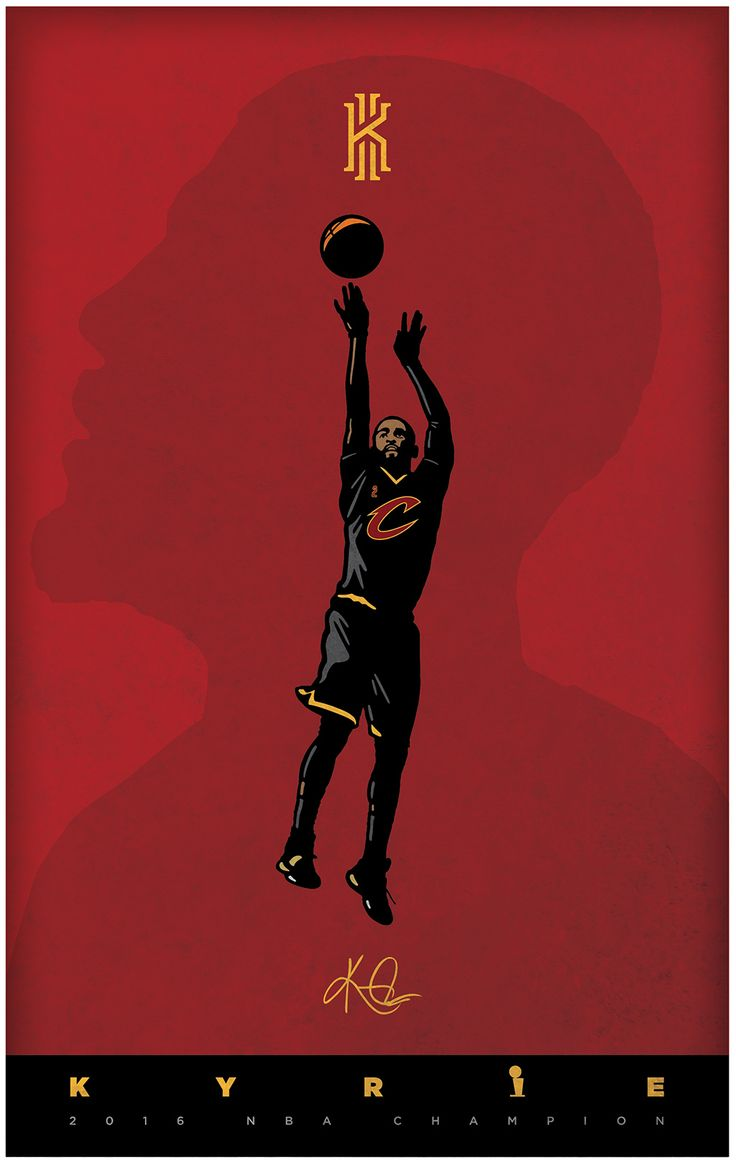 Kyrie Irving poster designed for my son.