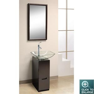 Glass Vanity DLVG 615 This DreamLine™ Vanity Features A Compact Design Well  Suited For