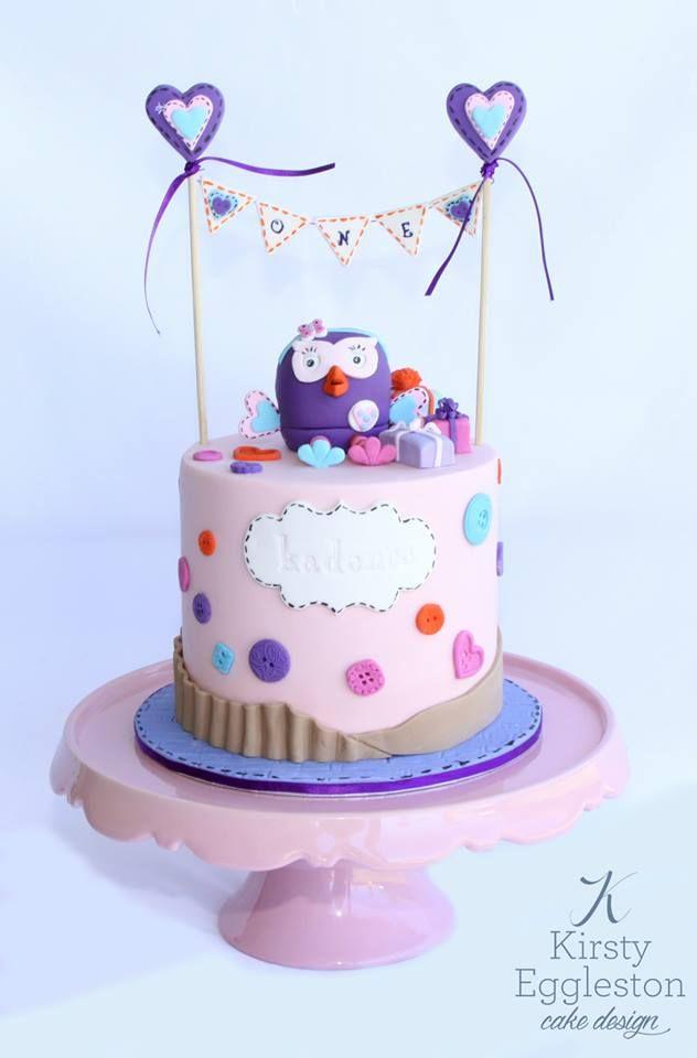 Hootabelle First Birthday Cake