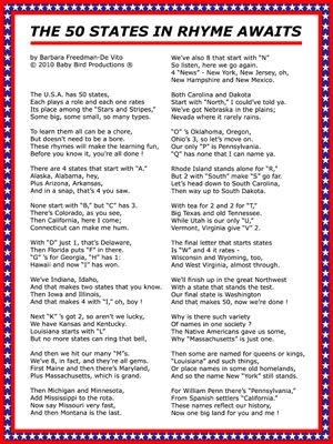 50 Us States List In A Poem My Country Tis Of Tee