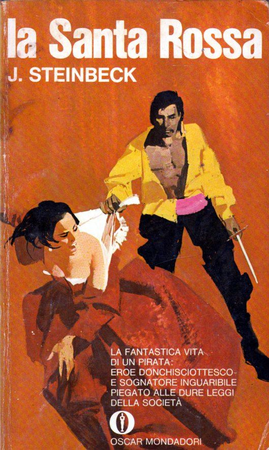"Illustrazione di Ferenc Pintér per ""La Santa Rossa"" di John Steinbeck, Oscar Mondadori 1969. #Mondadori #OscarMondadori #FerencPinter"