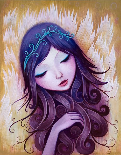"""""""Before Dusk"""", 11 x 14 inches, Acrylic on Wood by Jeremiah Ketner"""