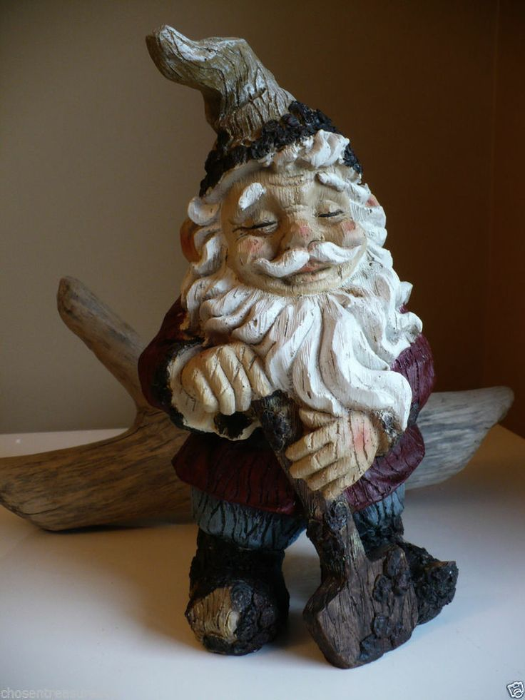 11 5 Quot Garden Gnome Statue With Shovel Bashful Fellow Yard