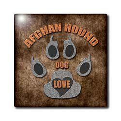 """Afghan Hound Dog Love Dog Breed in Gray and Brown - 12 Inch Ceramic Tile by Doreen Erhardt. $22.99. Clean with mild detergent. Image applied to the top surface. Dimensions: 12"""" H x 12"""" W x 1/4"""" D. Construction grade. Floor installation not recommended.. High gloss finish. Afghan Hound Dog Love Dog Breed in Gray and Brown Tile is great for a backsplash, countertop or as an accent. This commercial quality construction grade tile has a high gloss finish. The image i..."""