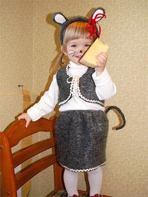Новогодний костюм мыши для мальчика
