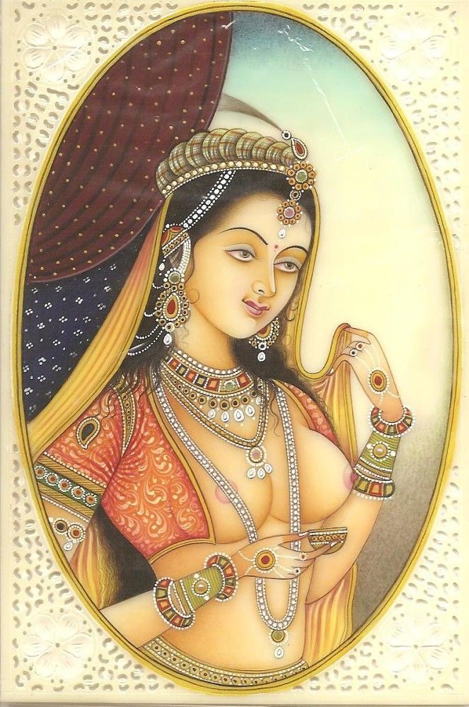 Mughal Princess Portrait Miniature