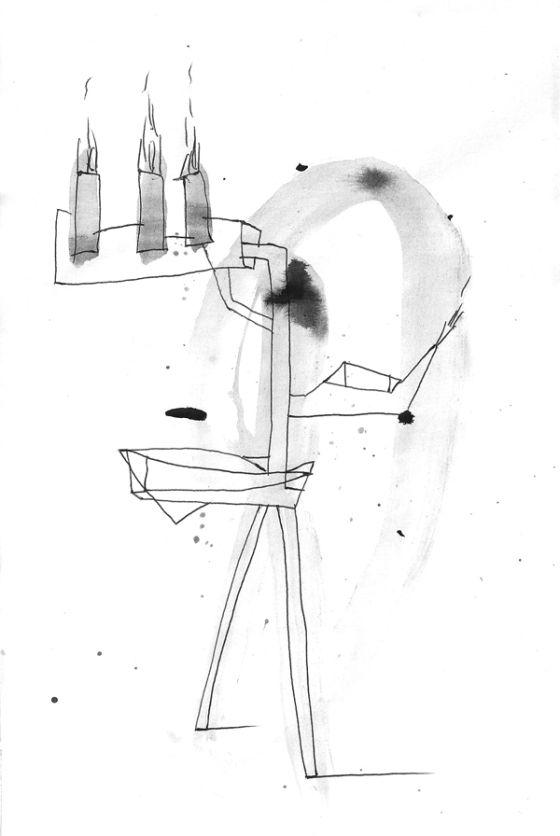 Csaba Pál, drawing 06, A/5