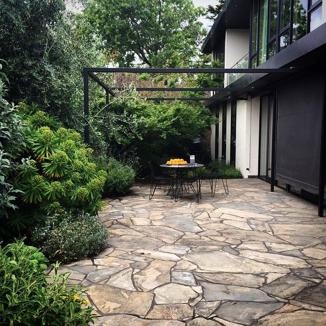 71 best crazy paving images on pinterest crazy paving for Courtyard landscaping brisbane