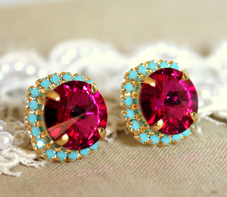 Ruby with a hint of turquoise..stunning color!