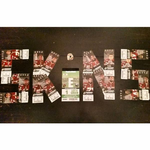 A creative way to display your #Redskins tickets