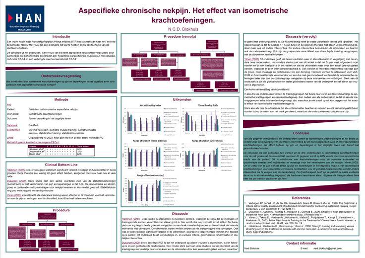 Aspecifieke chronische nekpijn. Het effect van isometrische krachtoefeningen.