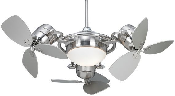 """Just kidding Chris!  Thought I would give you a scare.....I know I could never have anything this cool and funky.  LOL  Possini Euro FX3 Ceiling Fan - 18"""" Brushed Steel - #EUP6692 - Euro Style Lighting"""