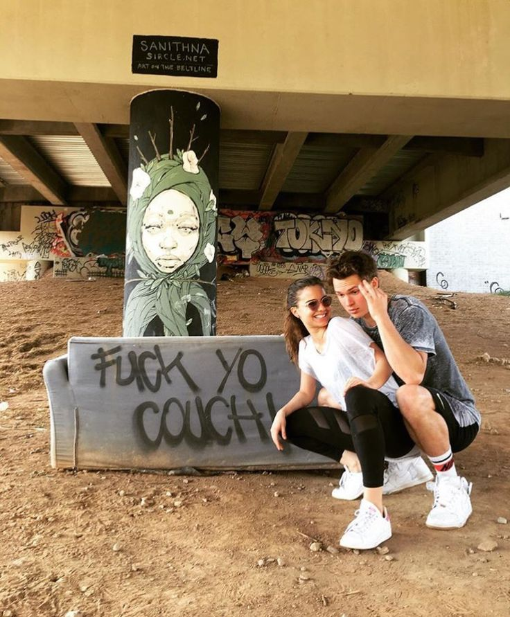 "Ansel Elgort with girlfriend Violetta Komyshan via Instagram ""I'm Rick James Bitch"""