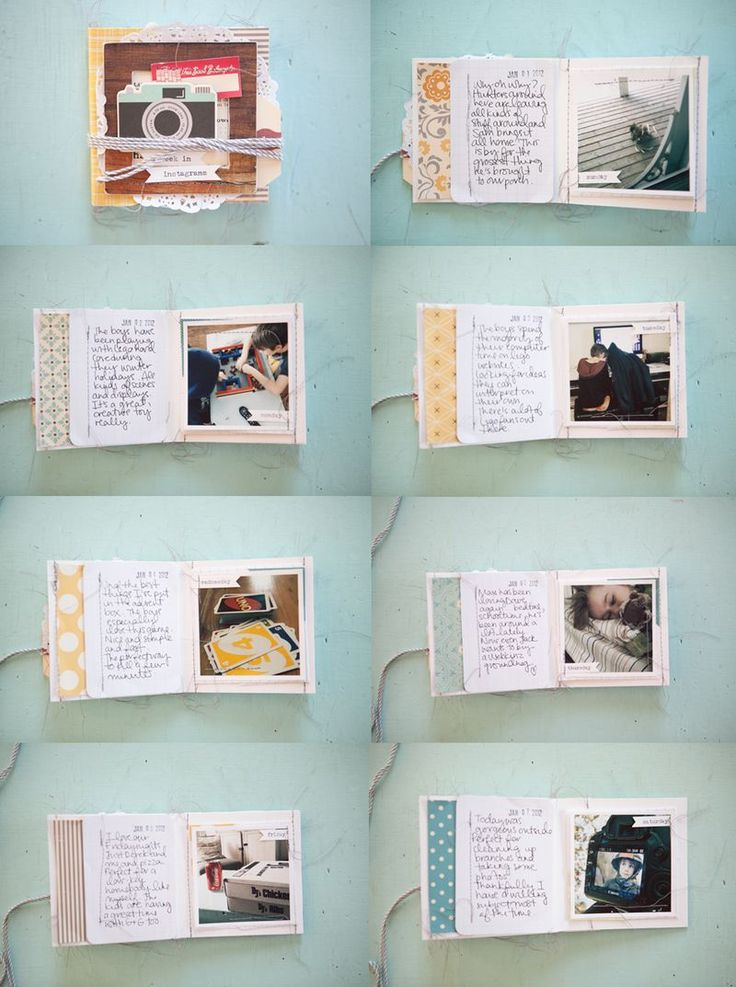 Mini book tutorial. Such a cute idea, esp for the kiddos