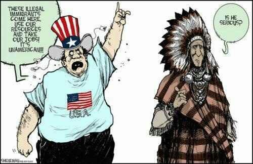 Native American's response to the anti-immigrant Tea Bagger