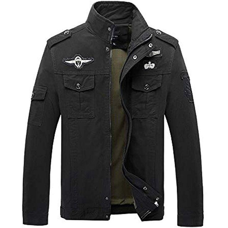 serliy#55357;#56859;Baumwolle Militär Jacke Herren Fruhling Herbst Übergangsja… – Herren
