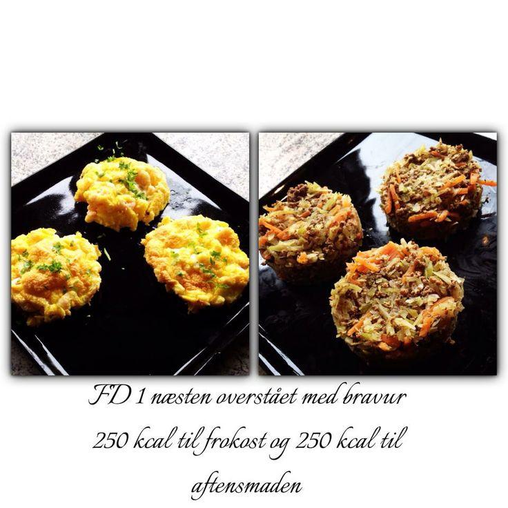 Super lækker og nem mad! Frokost er to æg, pisket stive, blomme og rejer vendt i. Bagt i ovnen i ...