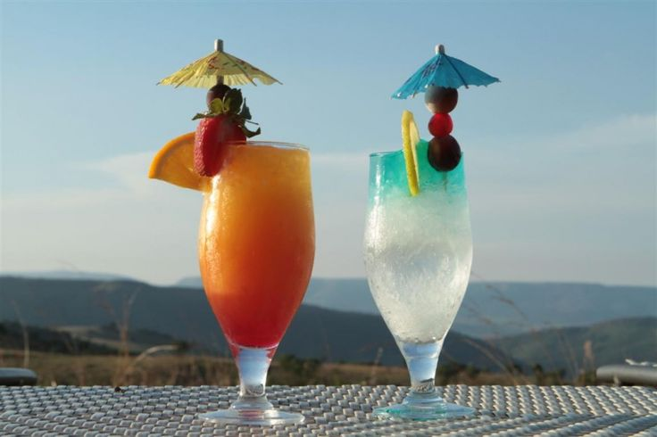 Enjoy some cocktails on the pool deck of the Maropeng Hotel in the Cradle of Humankind, Gauteng, South Africa.