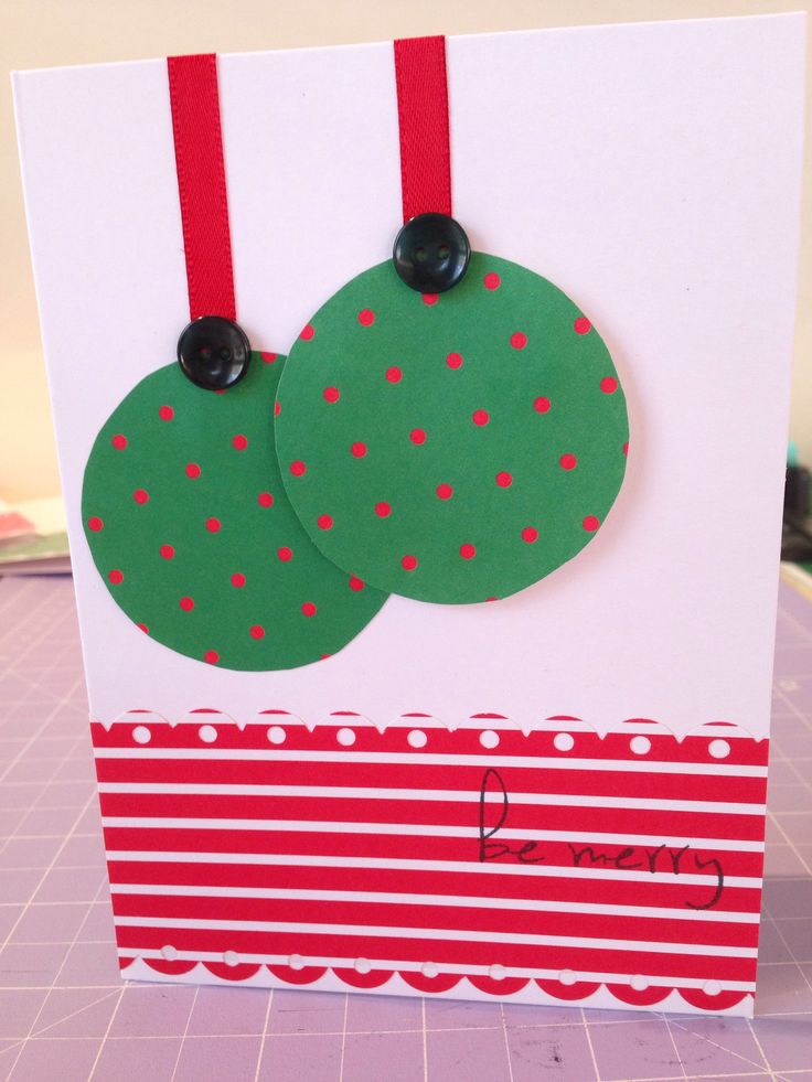 My first attempt at making my own Xmas cards...
