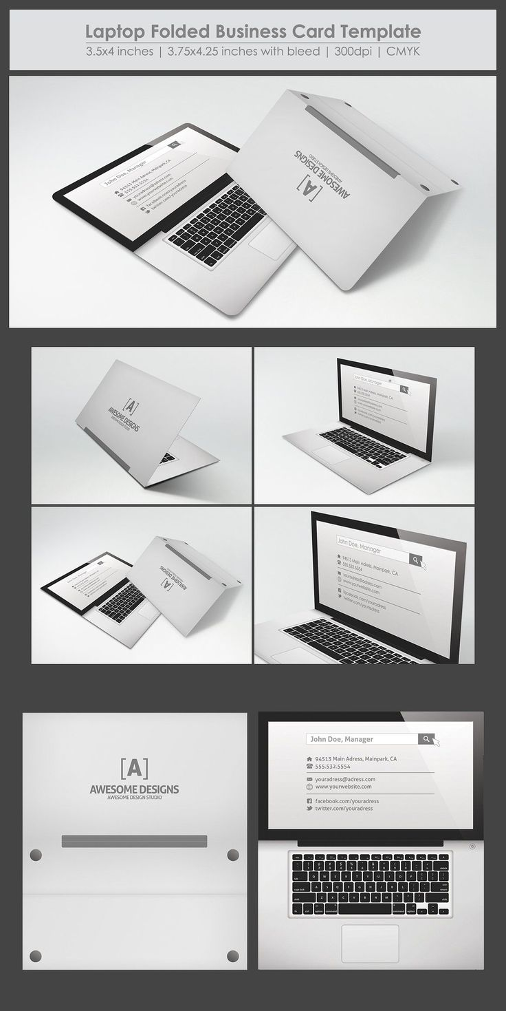 The Best Folded Business Cards Ideas On Pinterest Business - Folded business cards template