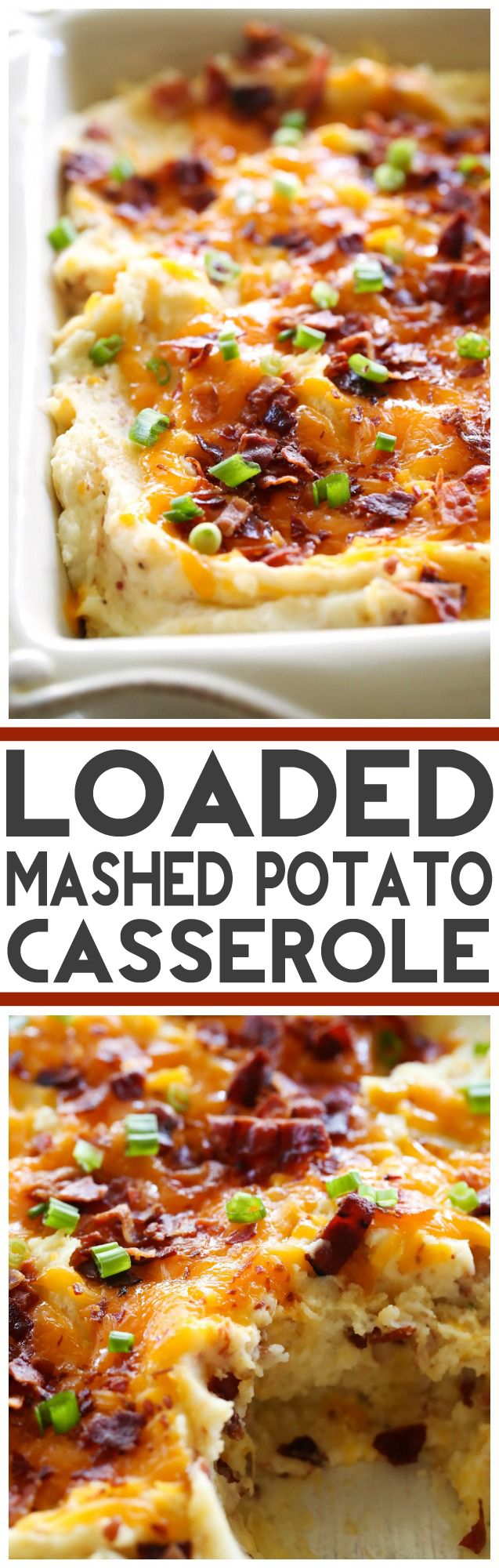 motorcycle wallet chains Loaded Mashed Potato Casserole... This recipe takes mashed potatoes to a whole new delicious level! These potatoes will be the star of the dinner table! They are my new favorite potato recipe!