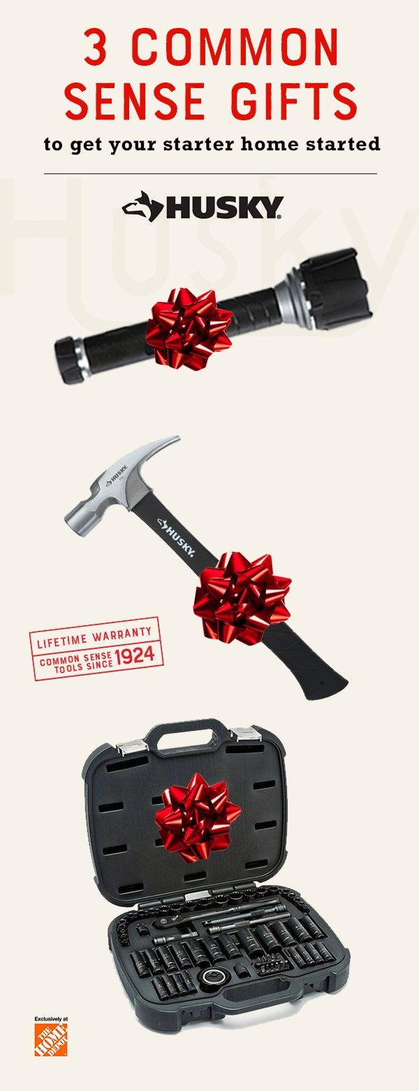 Looking for gift ideas? Give the tool and DIY lover in your life the gift that keeps on fixing this Holiday season with Husky Hand Tools. The 1000 Lumen Virtually Unbreakable Aluminum Flashlight, Fiberglass Ripping Hammer and our universal Mechanics Tool Set with 100-position ratchet all make excellent additions to your home renovator's tool chest, tool box, work bench or garage. Get the new year started with a gift they can use for any home improvement project. Click to explore more gift…