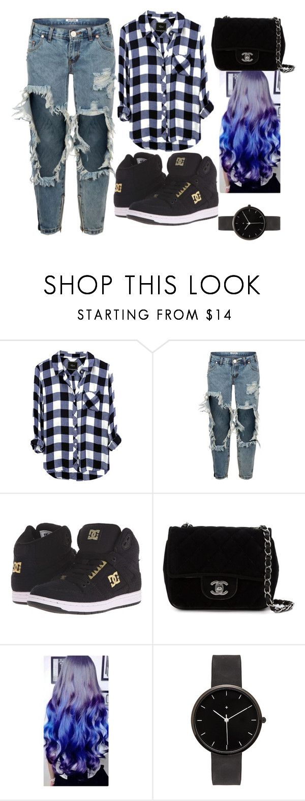 """Untitled #14"" by diana-elena-2 ❤ liked on Polyvore featuring OneTeaspoon, DC Shoes, Chanel and I Love Ugly"