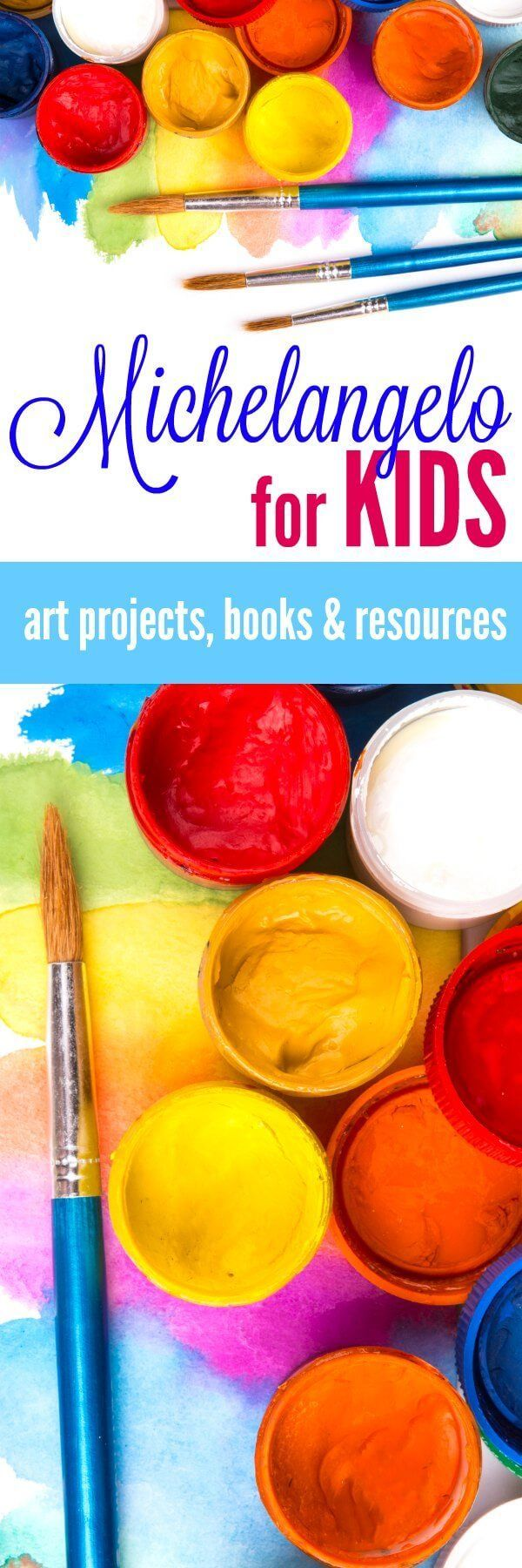 Fun activity ideas and resources for learning about this famous Renaissance artist. Fun lessons about Michelangelo for Kids - paint, sculpt, and learn about art.